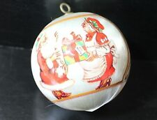 Mr and Mrs Claus Satin Christmas Ornament Bulb 1983 Vintage