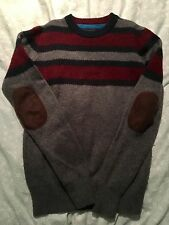 BODEN - Striped Jumper With Patches on Elbows ( Age 11/12 )