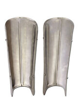 Steel Greaves with mid rib (pair), Leg Armour Medieval LARP Reenactment