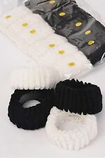 12 DOWN & DIRTY DONUTS Scrunchies Hair HUGE 2.5 x1.5inch 1 DOZEN Black or White