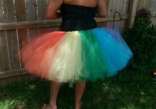 Adults Plus  size handmade tulle skirt rainbow  colors big tutu    xl xxl sizes