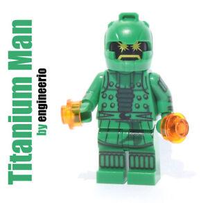 Custom minifigures Marvel Titanium man on lego brand bricks