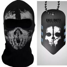 ADULT FACE MASK SKI HOOD L KEEGAN RUSS+CALL OF DUTY GHOST ACTIVISION MW2 DOG TAG