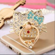 360 Rotating Rhinestone Hello Kitty Finger Ring Stand Holder Cell Phone Socket
