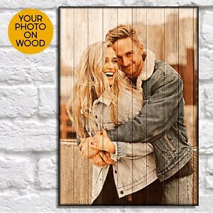 Personalised Anniversary gifts for Women gifts Husband gifts Photo on wood frame