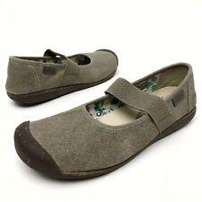 @ Keen Mary Jane Women's Sz 11 Eu42 Tan Canvas  Casual Sport Comfort Shoe Flats