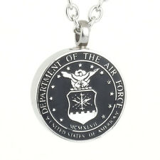 US Air Force Veteran Cremation American Patriotic Necklace Jewelry Urn
