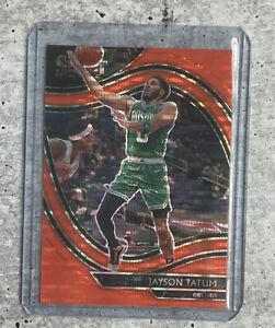 2020-21 Panini Select Courtside FOTL Jayson Tatum Orange Pulsar - Boston Celtics