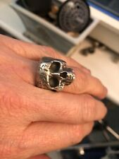anello teschio skull ring The great frog style keith richards 1,9 cm interno