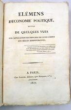 HAUTERIVE Elémens d'économie politique E O 1817 répartition de l'impot