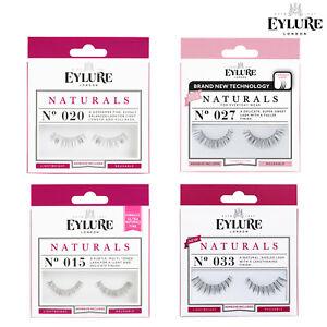 Eylure NATURAL False Reusable Eyelashes + Glue/Adhesive Lash Featherlight Feel