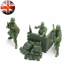 Toy Soldiers Army Men War Combat Force Set Plastic Soldier Playset for Children