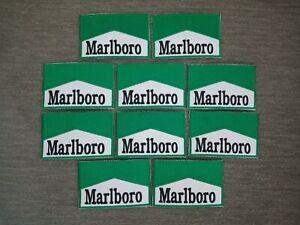10 pcs Fashion Marlboro Green Color Logo Badge Sew Iron on Embroidered Patch