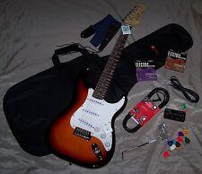 Roling's Chitarra Elettrica Stratocaster Leva+Borsa+2 Mute Corde+Tracolla+2 Jack