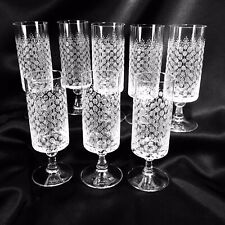 "8 Rosenthal Romance Red Wine Glass Stem 1 MCM Wiinblad 5 7/8"" Bubble Stem Etched"