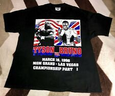 Vintage 90s Mike Tyson Vs Frank Bruno Pt.1 T-shirt Mens Sz XL Rare 1996 Hes Back
