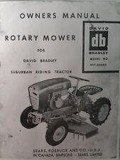 Sears Suburban David Bradley Riding Tractor Mower 91760603 Owner Amp Parts Manual