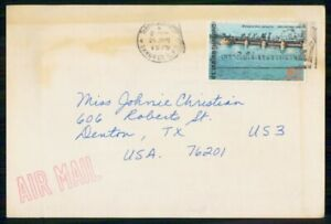 MayfairStamps Thailand 1975 Bangkok to Denton Texas Air Mail Cover wwm14621
