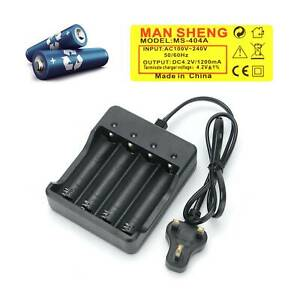 Lithium Ion Rechargeable ABS Plastic Battery Charger 3.7v Lithium Ion UK Plug