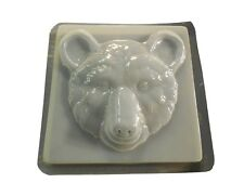 Bear Head Stepping Stone Concrete Mold 1341 Moldcreations