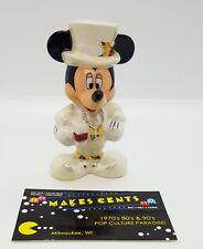 Disney Christmas Mickey Mouse Salt Shaker Ceramic Porcelain Figurine RARE