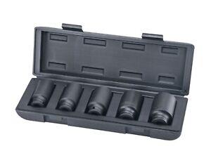 5PC Deep Impact Socket Set 30mm 32mm 34mm 36mm 39mm 12 Point Axle Nut Sockets