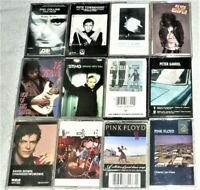 "LOT OF (12) ""USED"" CASSETTES / 70's - 80's ROCK  /  SEE PICTURES FOR TITLES"