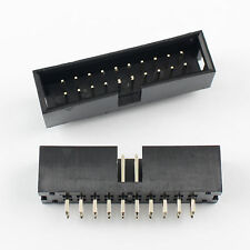 20Pcs 2.54mm 2x10 Pin 20 Pin Straight Male Shrouded Box Header PCB IDC Connector