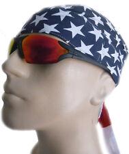 American Flag Doo-Rag Patriotic Chemo Bandana Skull Cap Motorcycle Helmet Liner