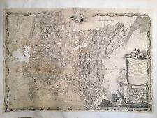 VIELLE CARTE _180 cm x 126 cm _ du 18ème sous L XV Par CASINI