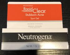Neutrogena Rapid Clear Stubborn Acne Gel with Maximum Strength  1.oz Exp. 01/22
