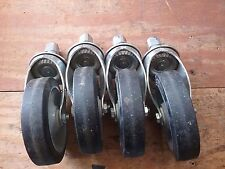 """Colson 5 x 1 1/4"""", load rating 145 lb, stem type rubber wheels**Lot of 4**"""
