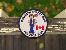 "Quilchena District Camp Feb. 27-29 2004 Girl Scouts 3"" Embroidered Patch Canada"