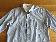 Apolis Mens Light Blue Chambray Oxford Cotton Linen Shirt Size M Medium $158