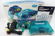 Nintendo 64 N64 game console Clear Blue Box Japan tested working