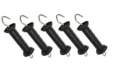 5 X HEAVY DUTY GATE HANDLE - Electric Fence Fencing Internal Spring Hook GH1