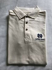 Notre Dame Embroidered Polo Golf Shirt Small NCAA Fighting Irish