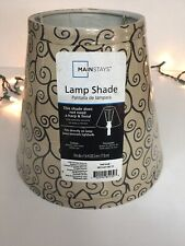 MAINSTAYS GOLD SCROLL PATTERN ROUND ACCENT DRUM LAMP SHADE