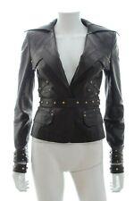 Gucci Stud Embellished Leather Jacket / Black