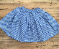 Blue/White Gingham Dorothy Petticoat Skirt - Made to Measure