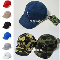 * A BATHING APE Goods Men's SHARK CAP 9colors Snap Back From Japan New