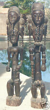 "ANTIQUE  BAULE WOOD FIGURES, MATCHED PAIR , MUSEUM QUALITY 37"" TALL"