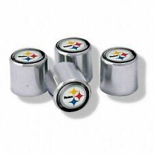 NEW Pittsburgh Steelers Football Chrome Tire Valve Stem Caps w/ Team Colors-4PC