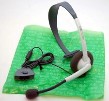 NEW GENUINE Microsoft XBox 360 LIVE Communicator WHITE Gaming Headset w/Mic OEM