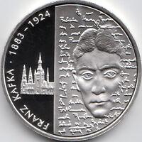 10 Euro Gedenkmünze 125. Geb. Franz Kafka 2008 Polierte Platte Silber 925/-
