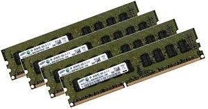 4x 4GB 16GB RAM HP Compaq Workstation Z400 1333 Mhz ECC Speicher PC3-10600E
