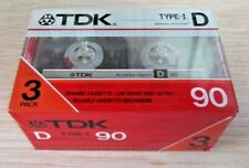 3 TDK D90 TYPE I : 1985 : MADE IN JAPAN : NEW & SEALED