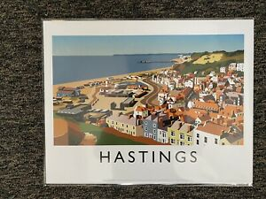Retro Contemporary Travel Poster Print Hastings 14 X 11 New