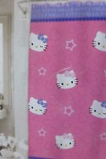 "Sanrio Hello Kitty with Stars Fabric Shower Curtain 72"" x 72"" NIP"