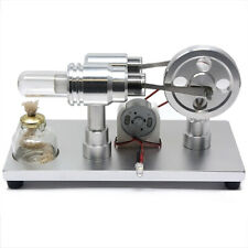 Precision Machined High Temperature Stirling Engine with Mulitcolor LED